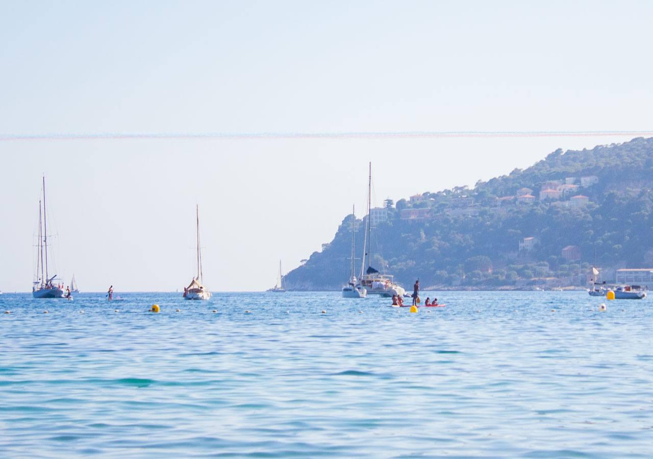 Paddle boarding in Villefranche Sur Mer